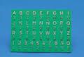 Braille alfabetkaartje, kunststof groen