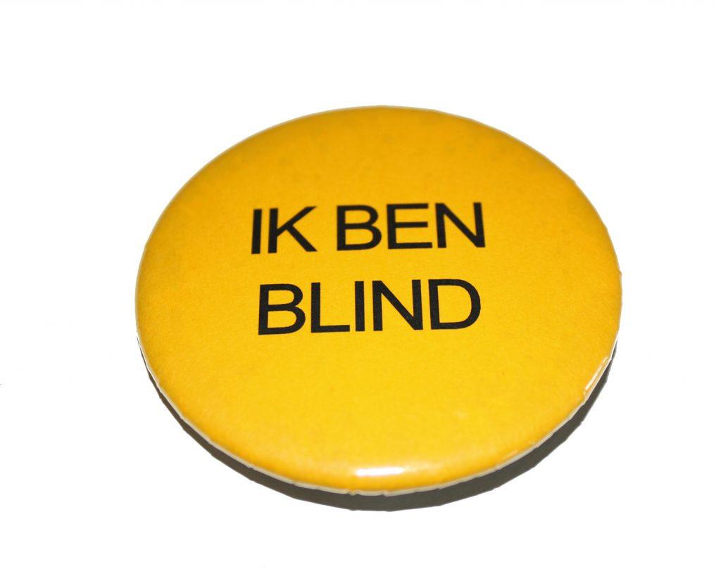 Button ik ben blind