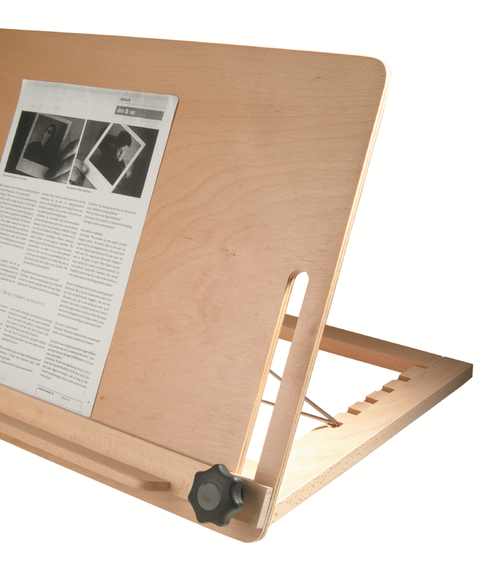 Leesstandaard groot A3 model, hout