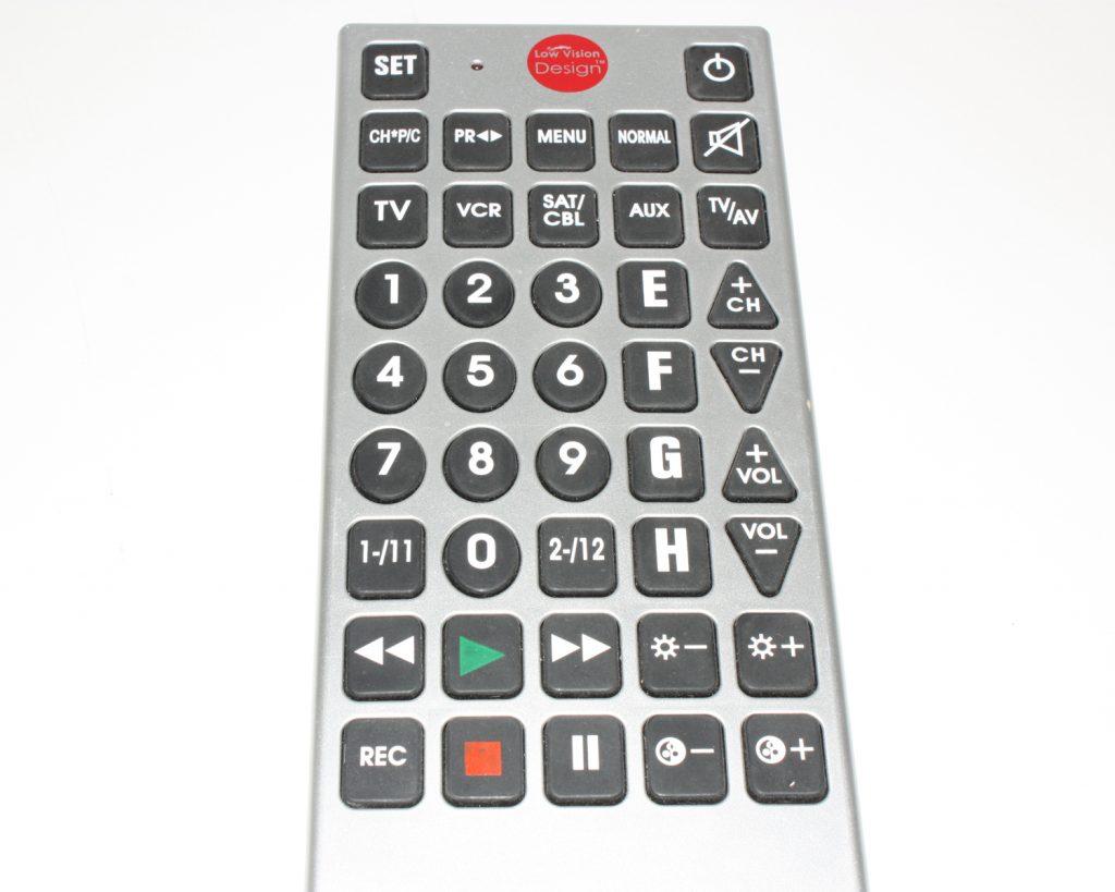 Low Vision Design afstandsbediening grote toetsen