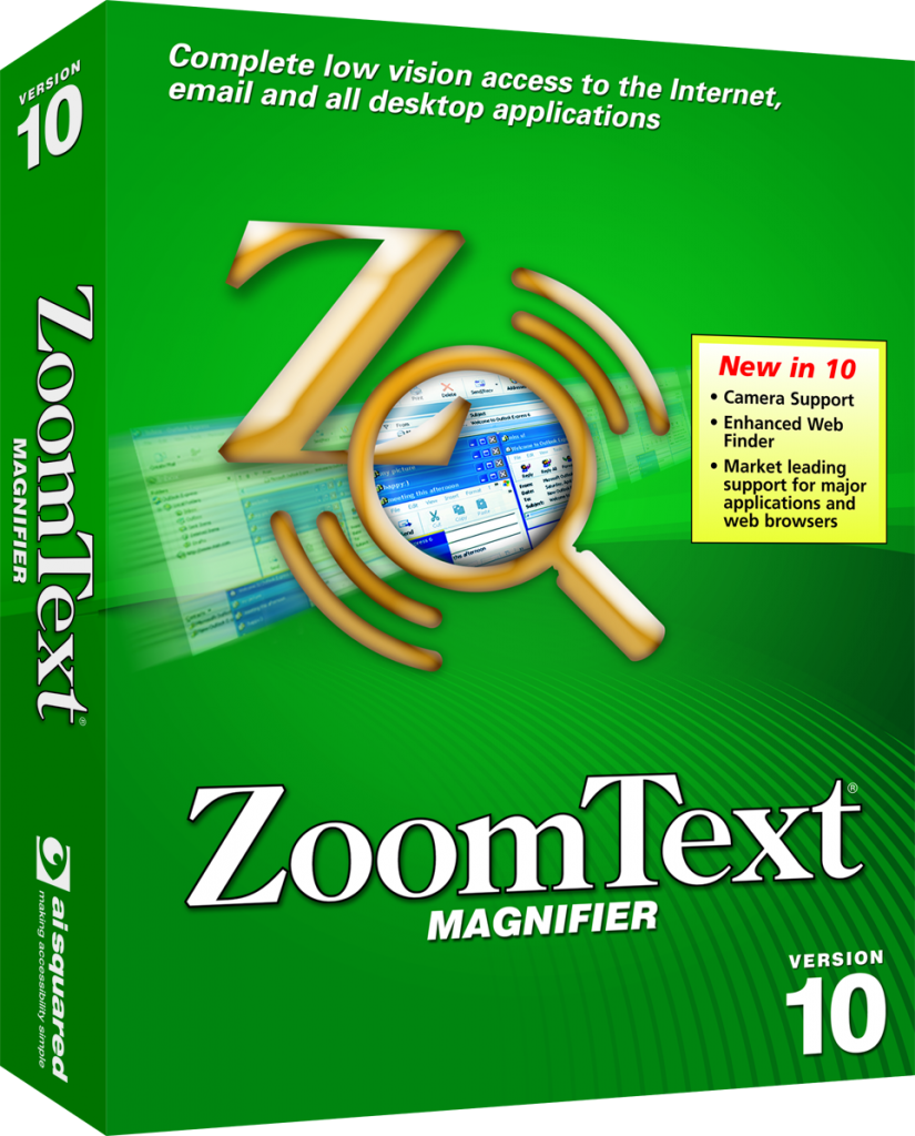 Zoomtext vergroting 10.1