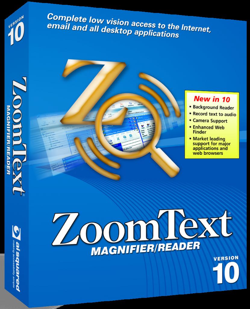 Zoomtext vergroting-spraak 10.1