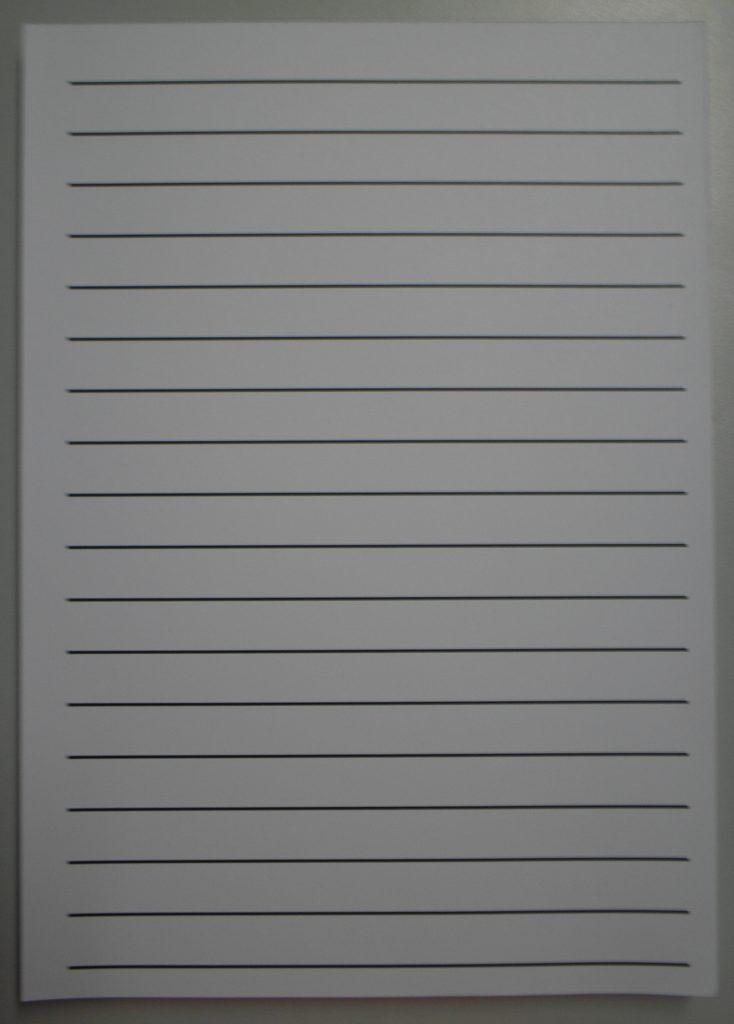 Lijnenblok A4 grote regels