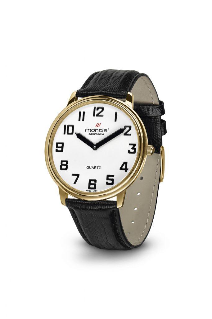 Montiel herenhorloge double witte wijzerplaat Montiel 4911 PVD LB
