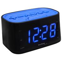 Wekkerradio blauw display knoppen verschillende vormen