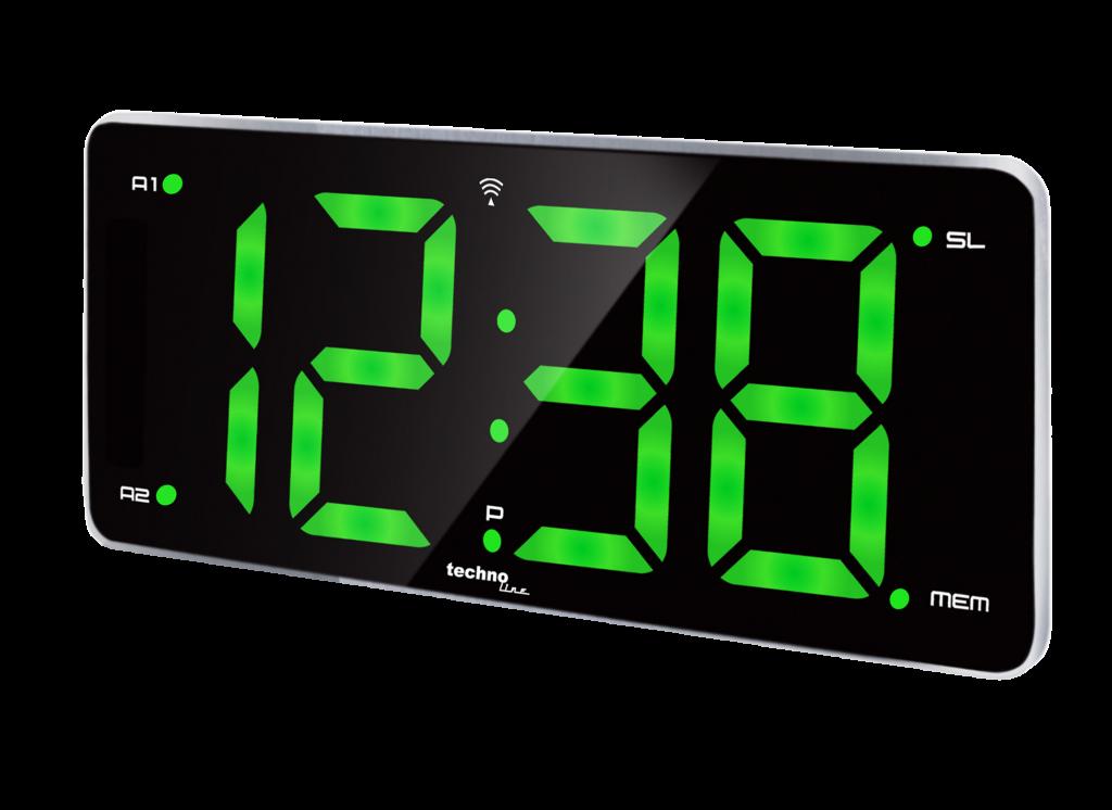 Wekkerradio atoomgestuurd groen display